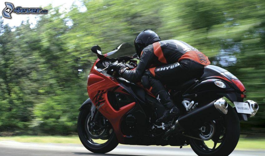 Suzuki Hayabusa, motociclista, velocità
