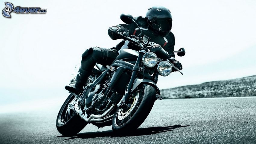 Triumph Speedmaster, motociclista