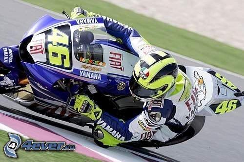 Valentino Rossi, motociclista, ciclista, Yamaha