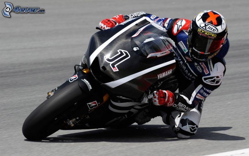 Yamaha, motociclista, gara