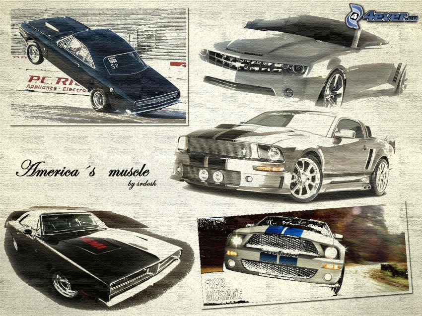 Muscle Car, Ford Mustang, Chevrolet Camaro