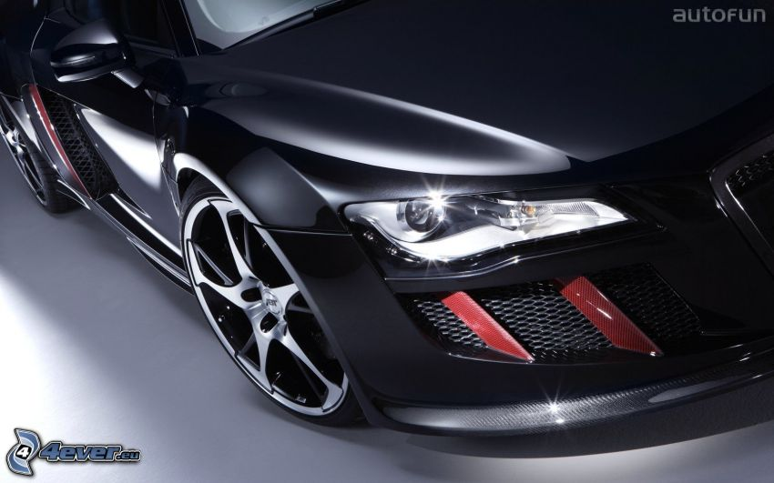 Audi R8 ABT, tuning, riflettore, auto