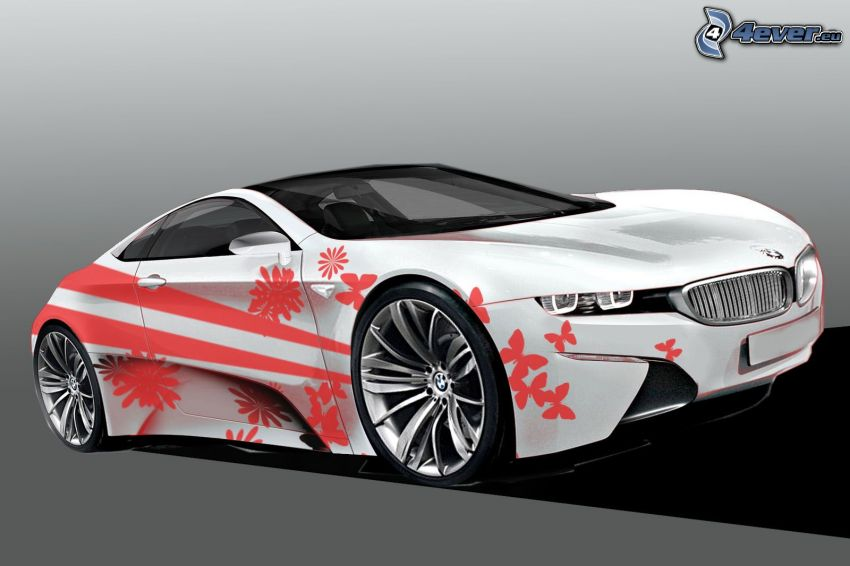 BMW i8, concetto, farfalle