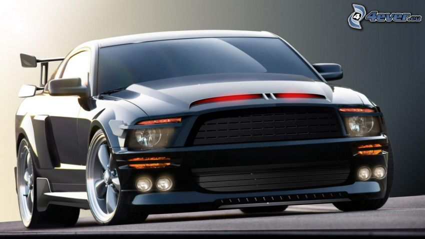 Ford Mustang, auto sportive, tuning