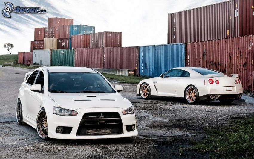 Mitsubishi Lancer, tuning, Nissan GTR