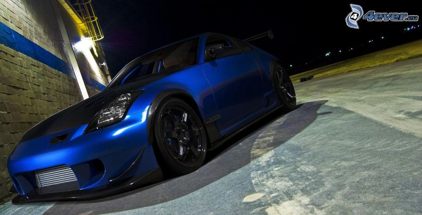 Nissan 350Z, tuning, notte