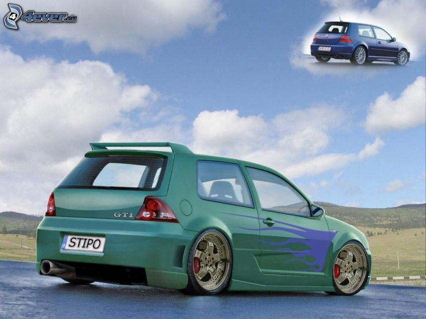 Volkswagen Golf, virtual tuning