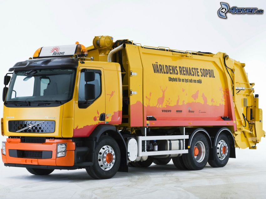 Volvo, autocompattatore rifiuti