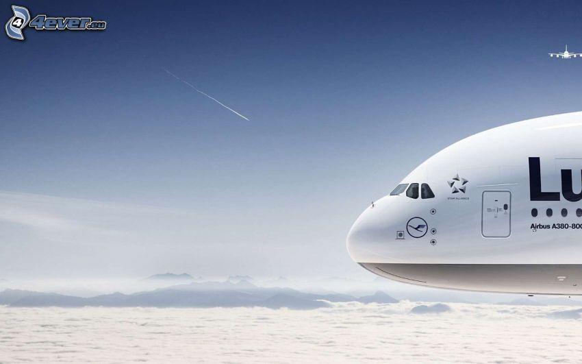 Airbus A380, cielo