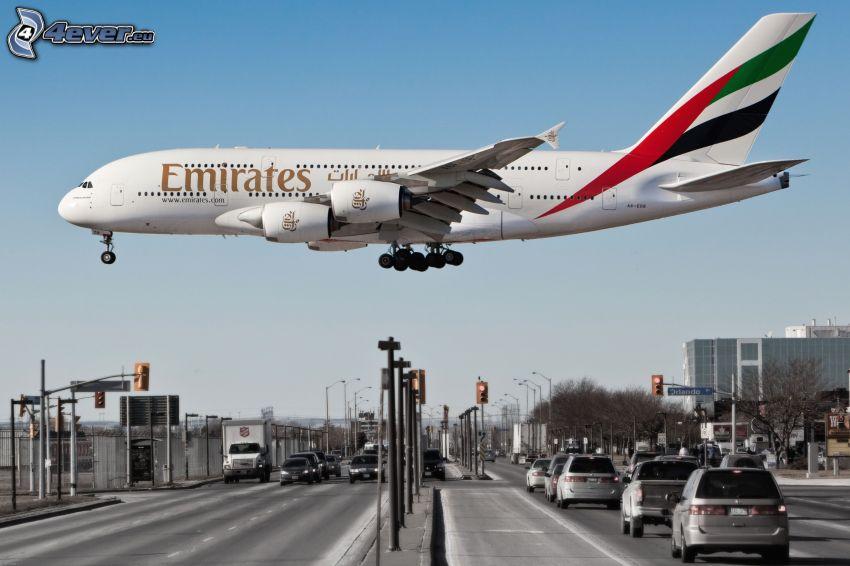 Airbus A380, città