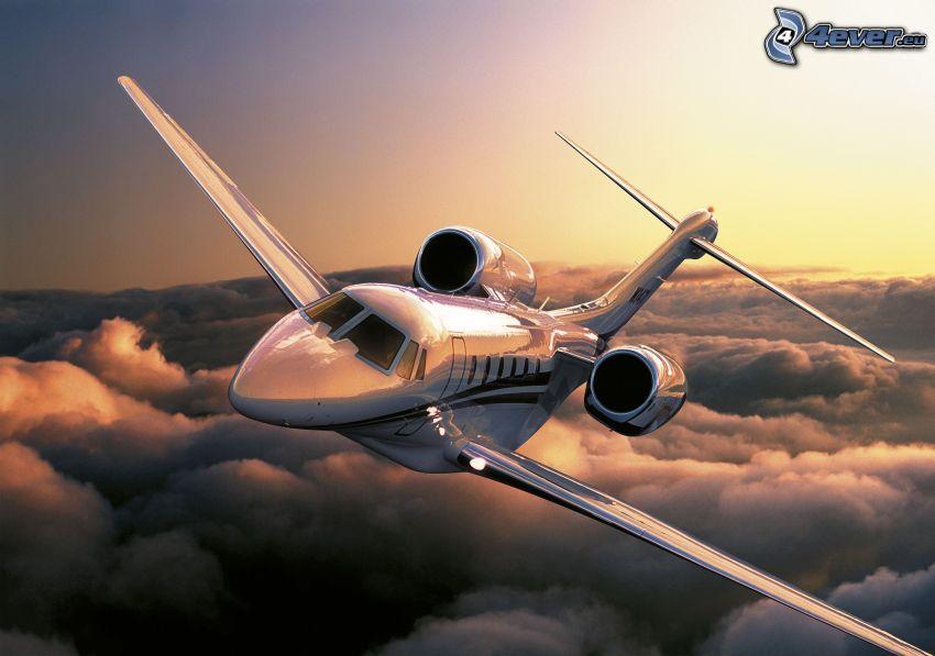 Citation X - Cessna, sopra le nuvole