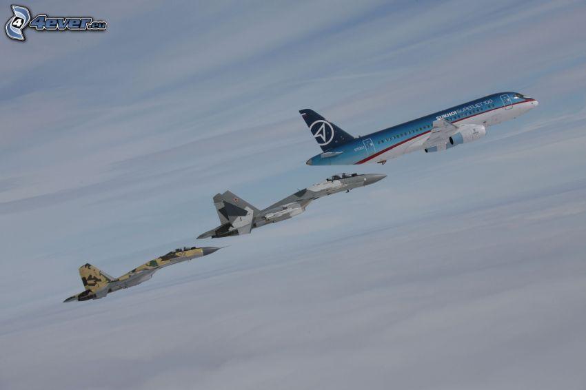 aereo, aerei da caccia