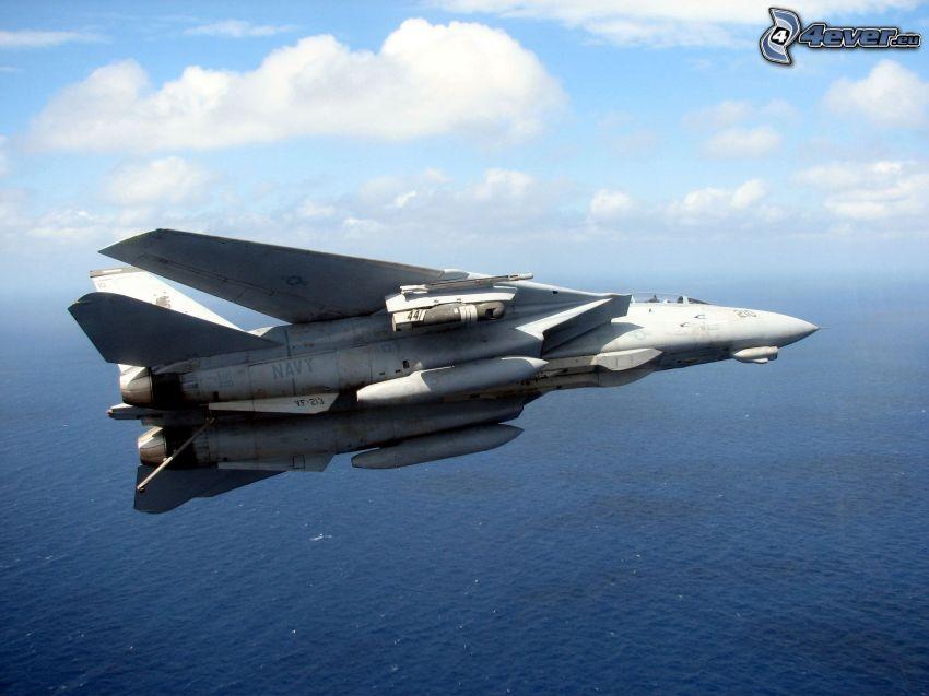 aereo da caccia, mare