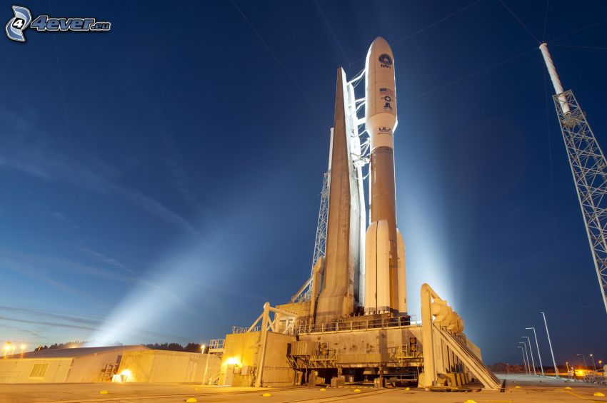 Atlas V, racchetta, notte