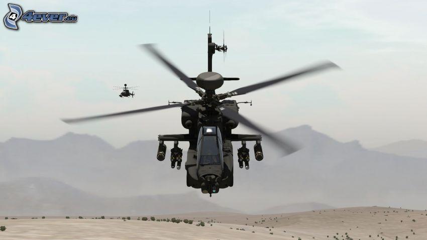 AH-64 Apache, montagna
