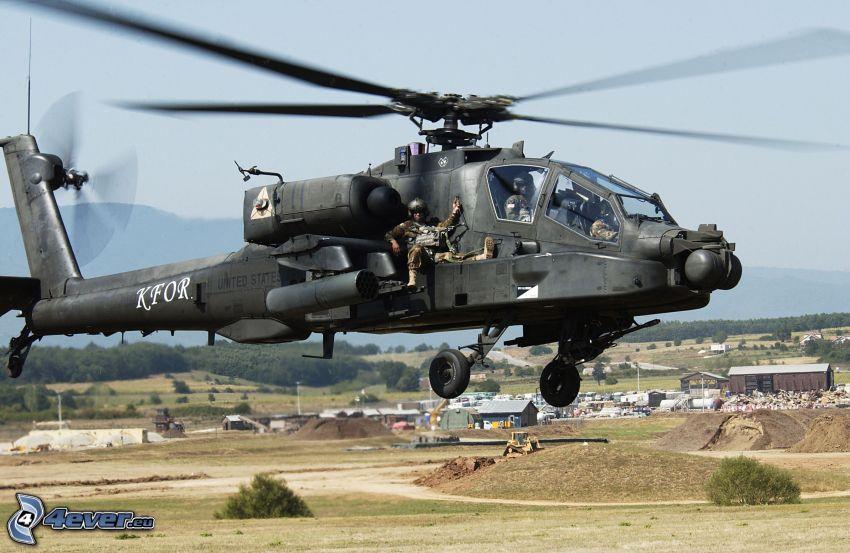 AH-64 Apache, soldati