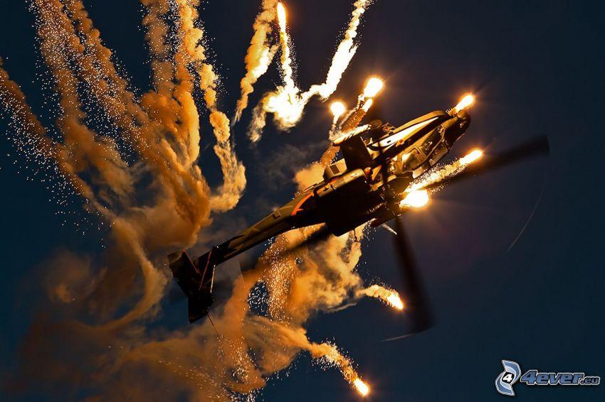 elicottero, bombardamento
