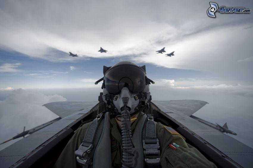 pilota, aerei da caccia