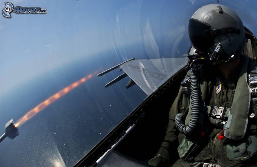 pilota, aereo da caccia