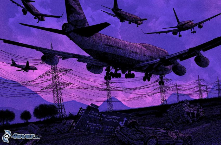 aerei, elettrodotto