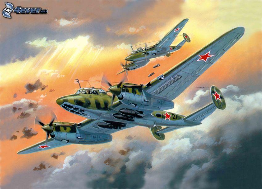 aerei, Seconda guerra mondiale, bombardamento