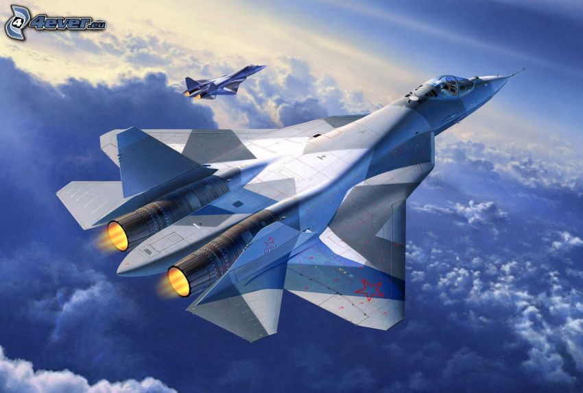aerei da caccia, sopra le nuvole