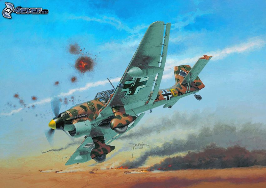 aereo, bombardamento