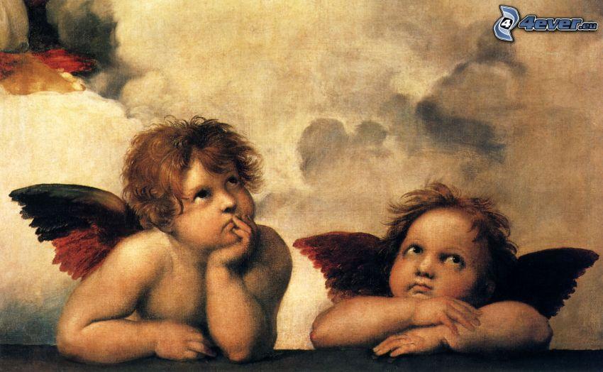angeli, bambini