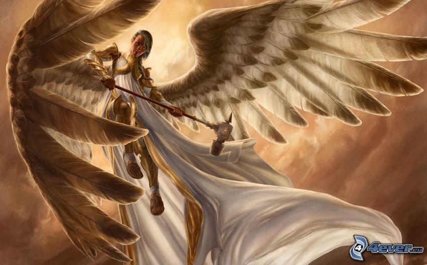 angelo, abito bianco, ali
