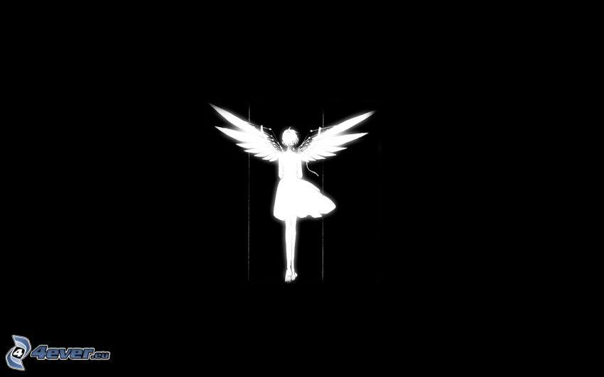 angelo, bianco e nero