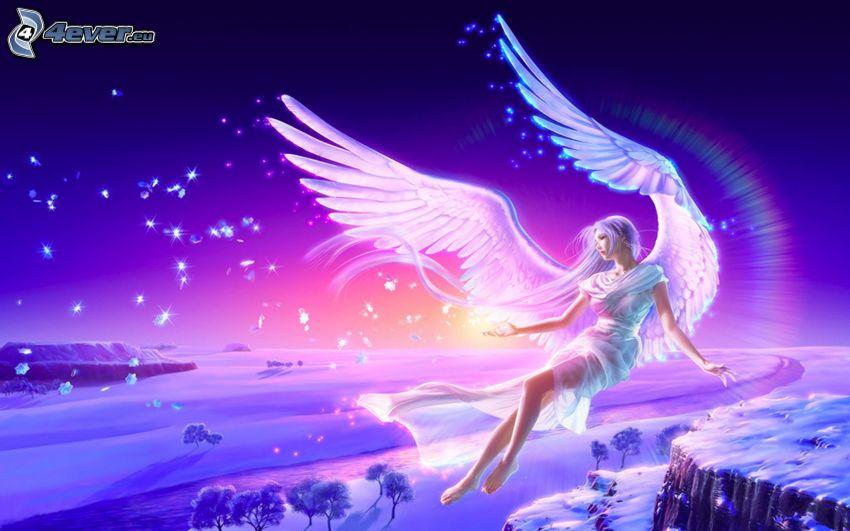 angelo, paesaggio innevato