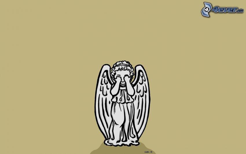 angelo, tristezza