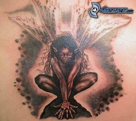 angelo oscuro, diavolo, tatuaggio