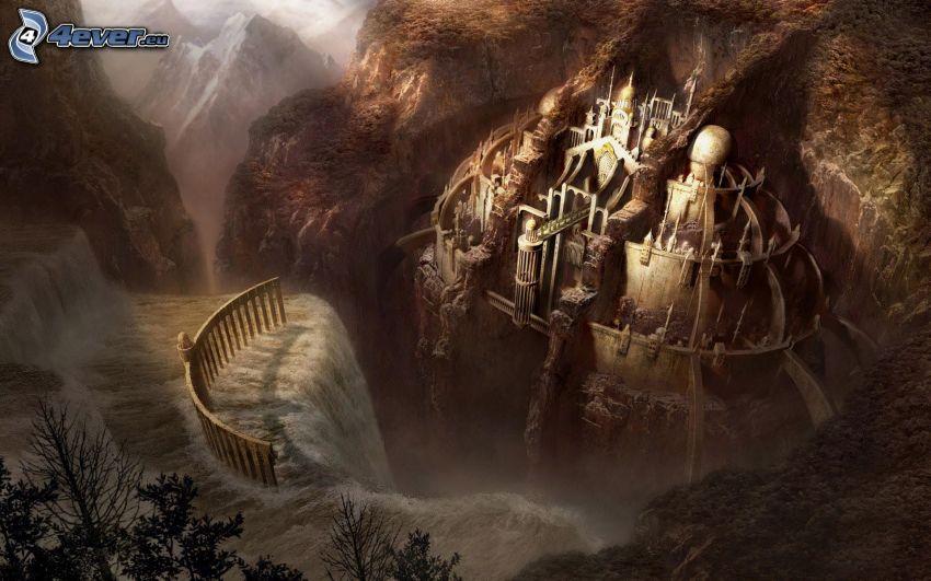 castello fantasy, paesaggio fantasy