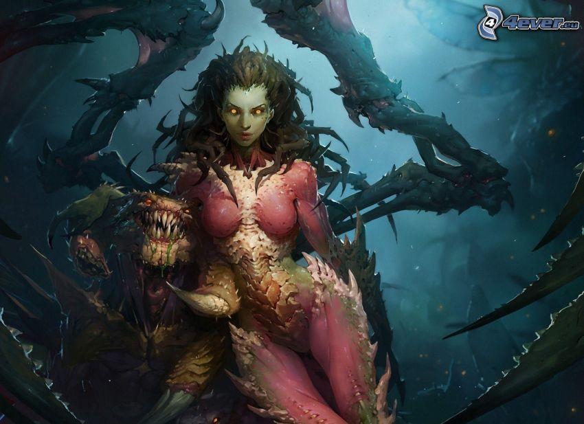 donna fantasy, mostro