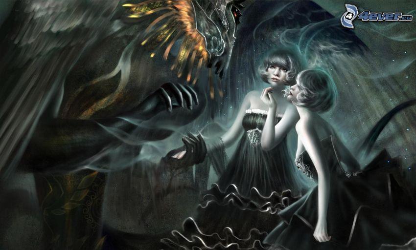 donne disegnate, fantasy