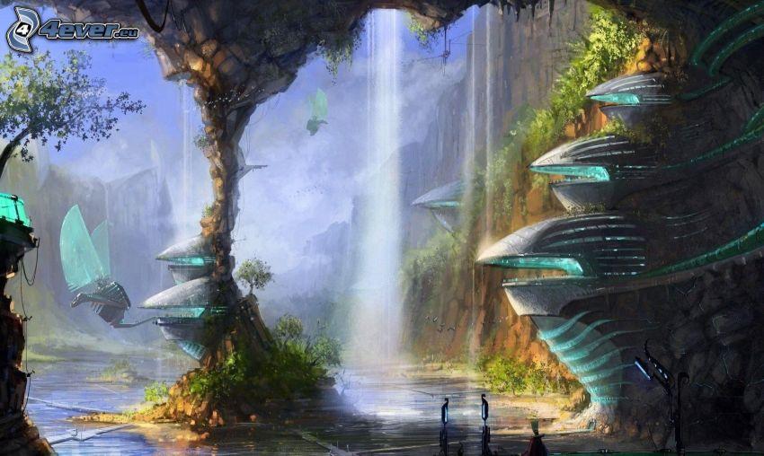 fantasy, cascata