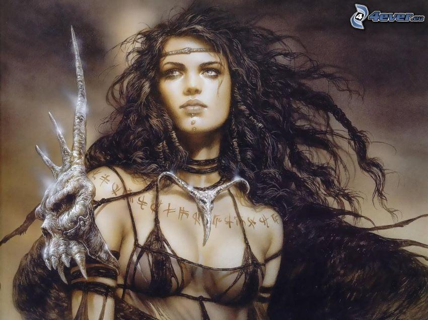 fantasy guerriera, Luis Royo