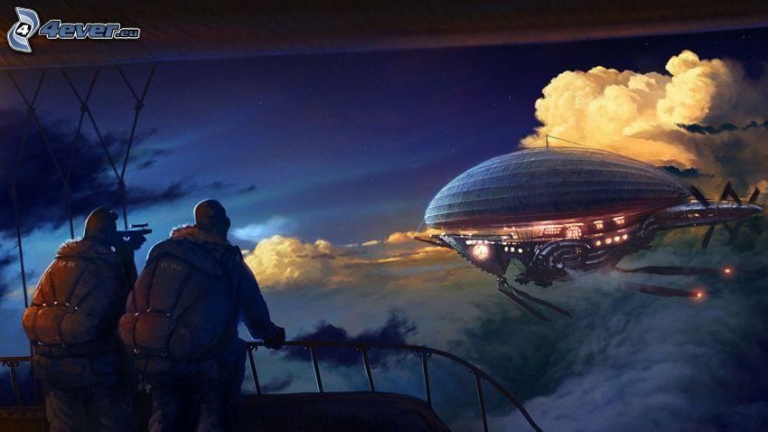 UFO, fantasy, uomini