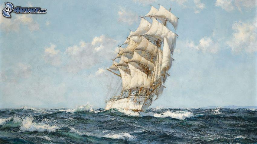 barca a vela, mare