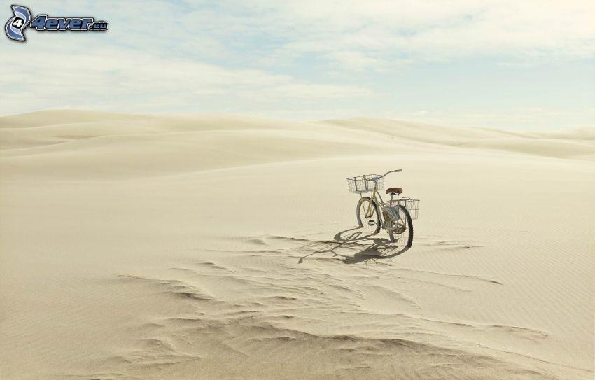 bicicletta, deserto