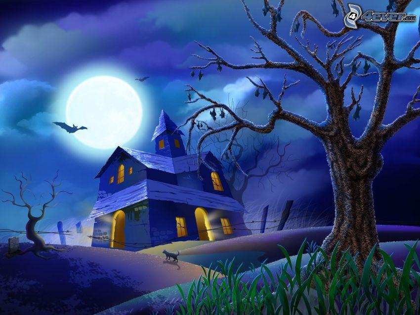 casa di paura, luna