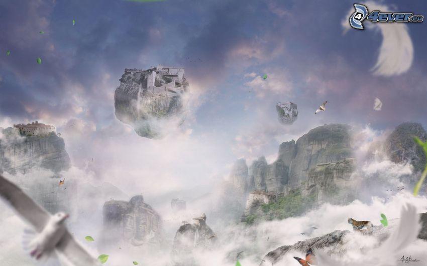 castello fantasy, isole volanti