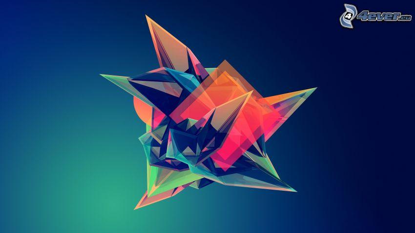 diamante, colori, astratto