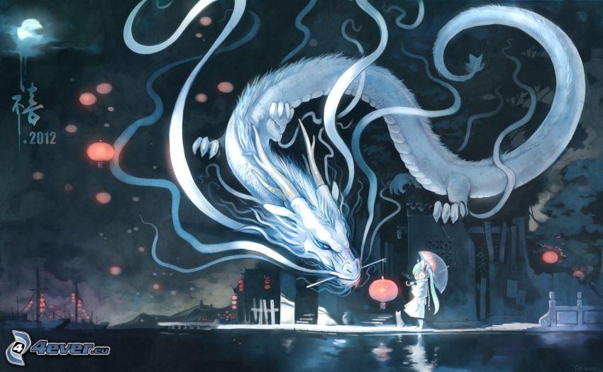 dragone bianco