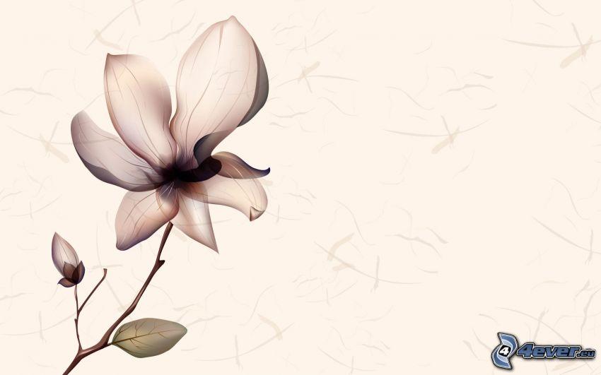 fiore grafico, sfondo marrone