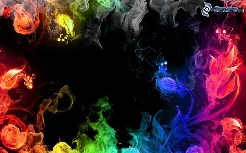 fumo colorato