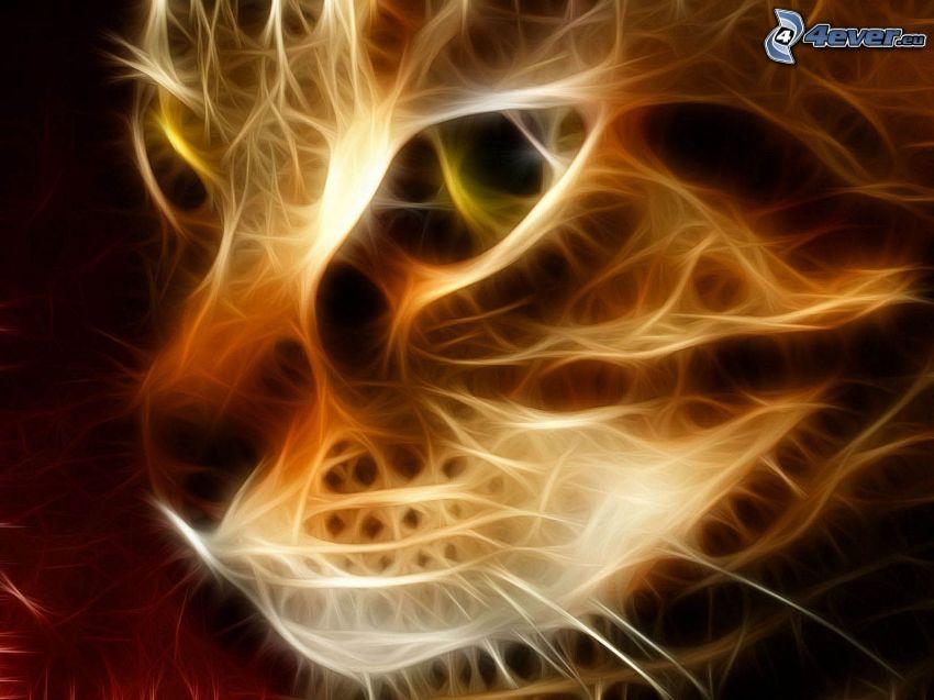 gatto frattale