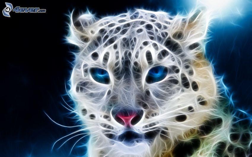 ghepardo frattale, frattali di animali