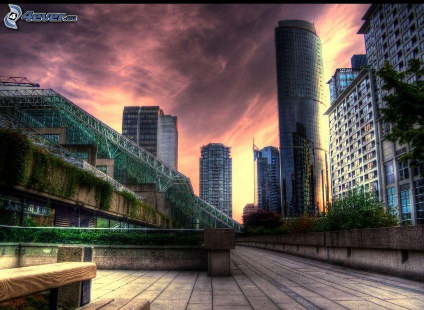 grattacieli, HDR